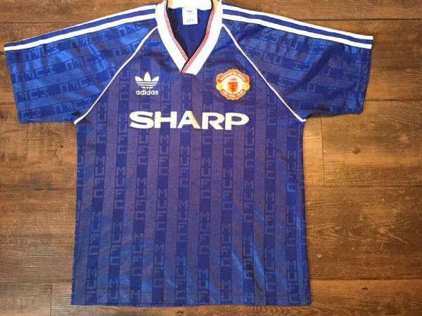 1988 1990 Manchester United Away Football Shirt Adults Medium